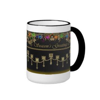 Seasons Greetings Christmas Lights Holiday Mug Ringer Mug