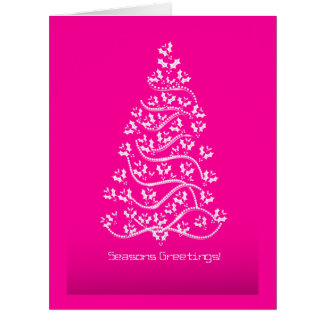 Seasons Greetings Christmas Tree Greeting Cards