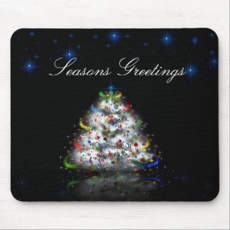 Seasons Greetings Christmas Tree Mousepad