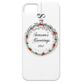 Seasons Greetings Christmas Wreath Ornament Print Barely There iPhone 5 Case
