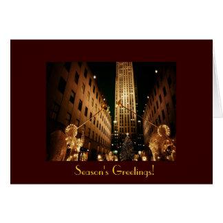 Season's Greetings - Classic Rockefeller Center Greeting Card