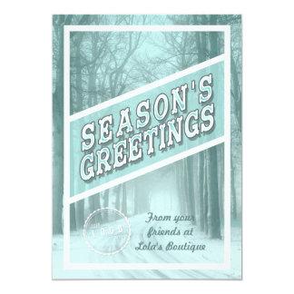 Season's Greetings Corporate Holiday Card 13 Cm X 18 Cm Invitation Card