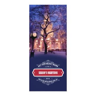 "Season's Greetings Corporate Photo Template Cards 4"" X 9.25"" Invitation Card"