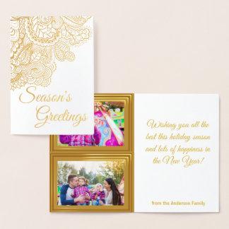 Seasons Greetings! Custom 2 Photo Holiday Card