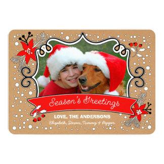 Season's Greetings. Custom Christmas Photo Cards 13 Cm X 18 Cm Invitation Card