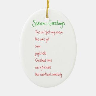 Season's Greetings Christmas Tree Ornaments