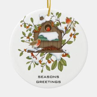 Seasons Greetings Christmas Tree Ornaments