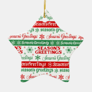 Seasons Greetings Christmas Ornament