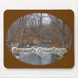 Season's Greetings Deep Creek in Ice Mouse Pad