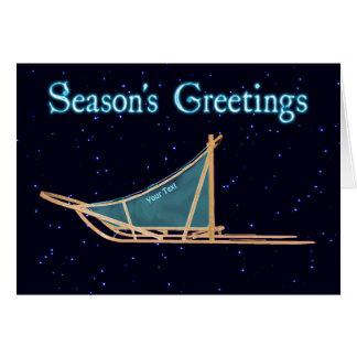 Season's Greetings - Dog Sled Card