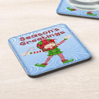 Season's Greetings Elf Drink Coaster Set (6)