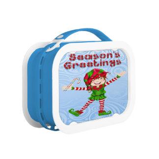 Season's Greetings Elf Lunch box
