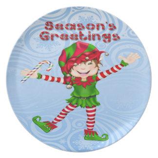 Season's Greetings Elf Plate