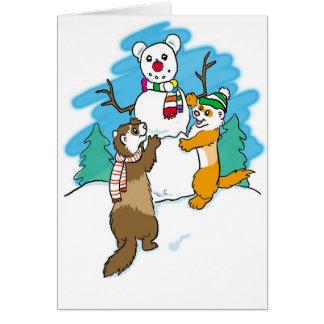 Season's Greetings Ferrets Greeting Card
