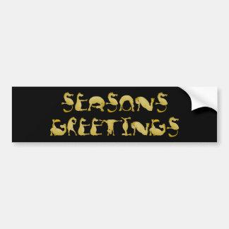 Seasons greetings flexi pony bumper sticker