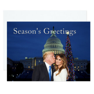 Season's Greetings from Donald and Melania Card