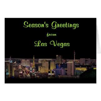 Season's Greetings from Las Vegas Card