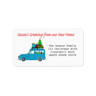 Season's Greetings from new home label Address Label