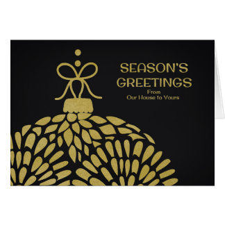 Season's Greetings From Our House to Yours Card