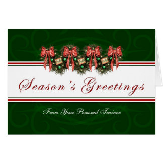 Season's Greetings - From Your Person Trainer Card