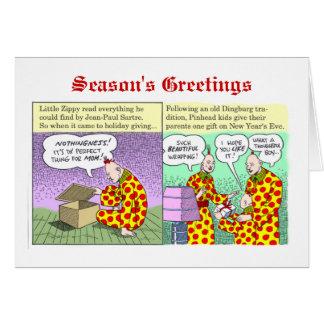 Season's Greetings from Zippy Greeting Card