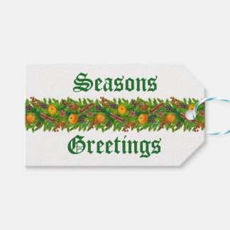 Seasons Greetings Gift Tags
