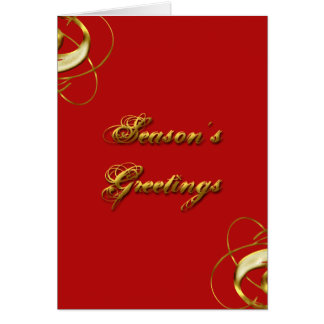 Season's Greetings Gold Lettering Card