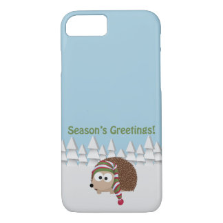 Season's Greetings Hedgehog iPhone 7 Case