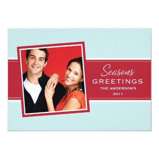 SEASONS GREETINGS | HOLIDAY CARD 13 CM X 18 CM INVITATION CARD