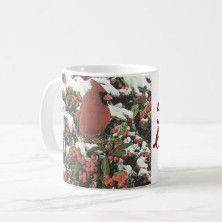 Season's Greetings Holiday Cardinal Coffee Mug