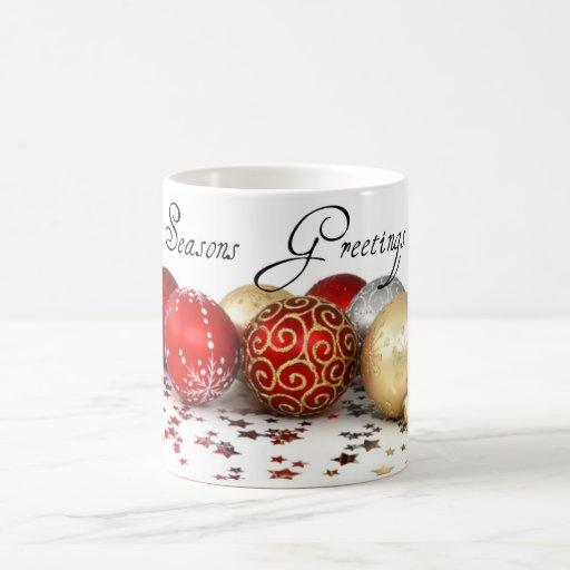 Seasons Greetings Holiday Ornament Mug