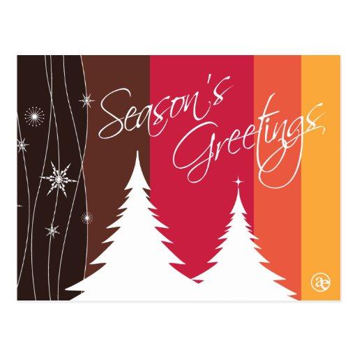 Season's Greetings Holiday Postcard