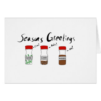Seasons Greetings! Holiday Produce Pun Card