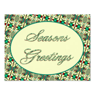 Seasons Greetings 11 Cm X 14 Cm Invitation Card