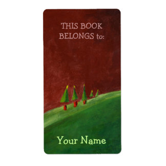 Season's Greetings Landscape Bookplate Label