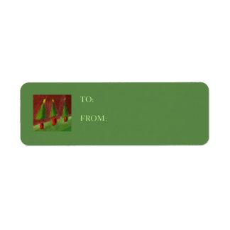 Season's Greetings Landscape Gift Tag Label Return Address Label
