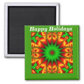 Seasons Greetings_ Square Magnet