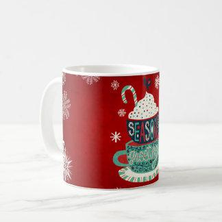 Seasons greetings Merry Christmas Holiday Mug