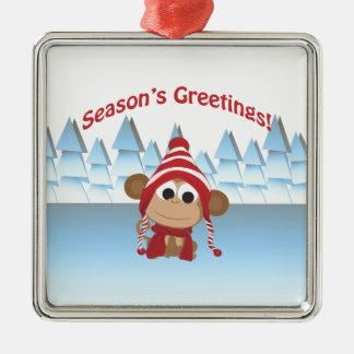 Season's Greetings!  Monkey Ornament