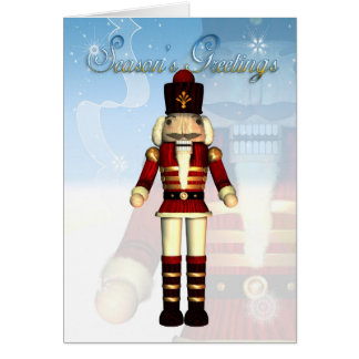 Season's Greetings Nutcracker Soldier Card