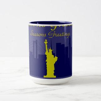 Seasons Greetings NYC Two-Tone Mug