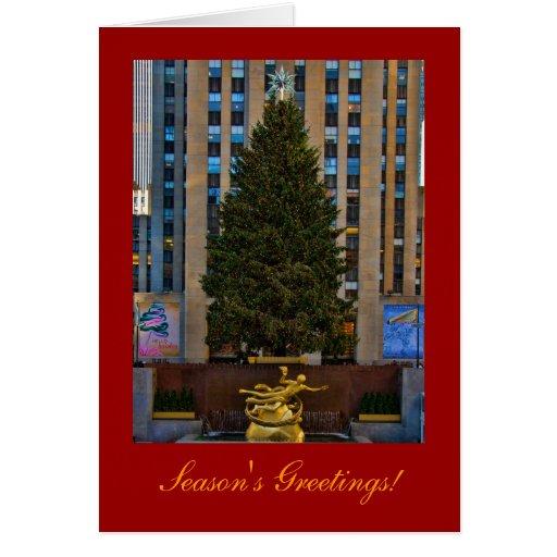 Season's Greetings: NYC Rockefeller Center Tree A2 Card