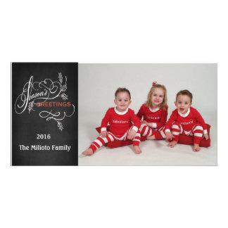 Season's Greetings One Photo Christmas Card Photo Cards