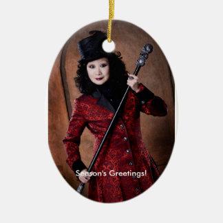 Season's Greetings! - Oval Tree Ornament