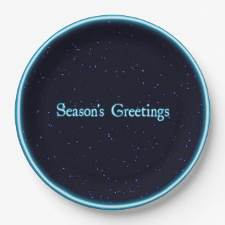Season's Greetings Paper Plate