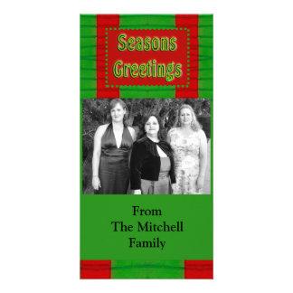 Seasons Greetings Photo Greeting Card