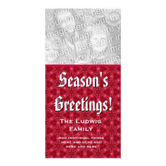 Season's Greetings Photo Card Custom Family Name