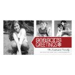 Seasons Greetings Photo Card with 3 photos
