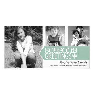 Seasons Greetings Photo Card with 3 photos