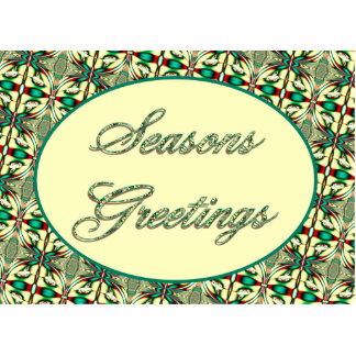 Seasons Greetings Photo Sculpture Magnet